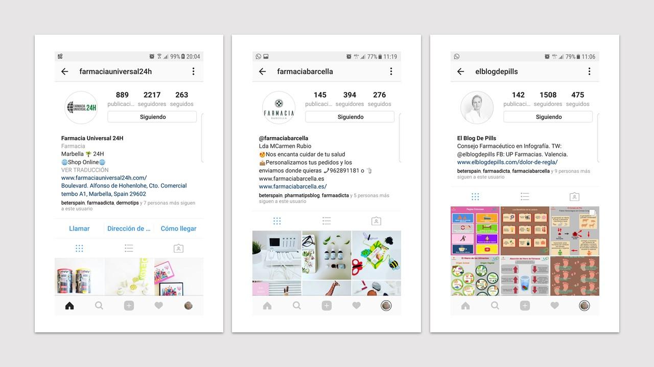 Instagram en farmacia