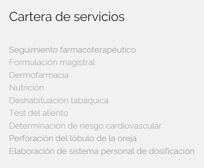 farmacia en internet servicios