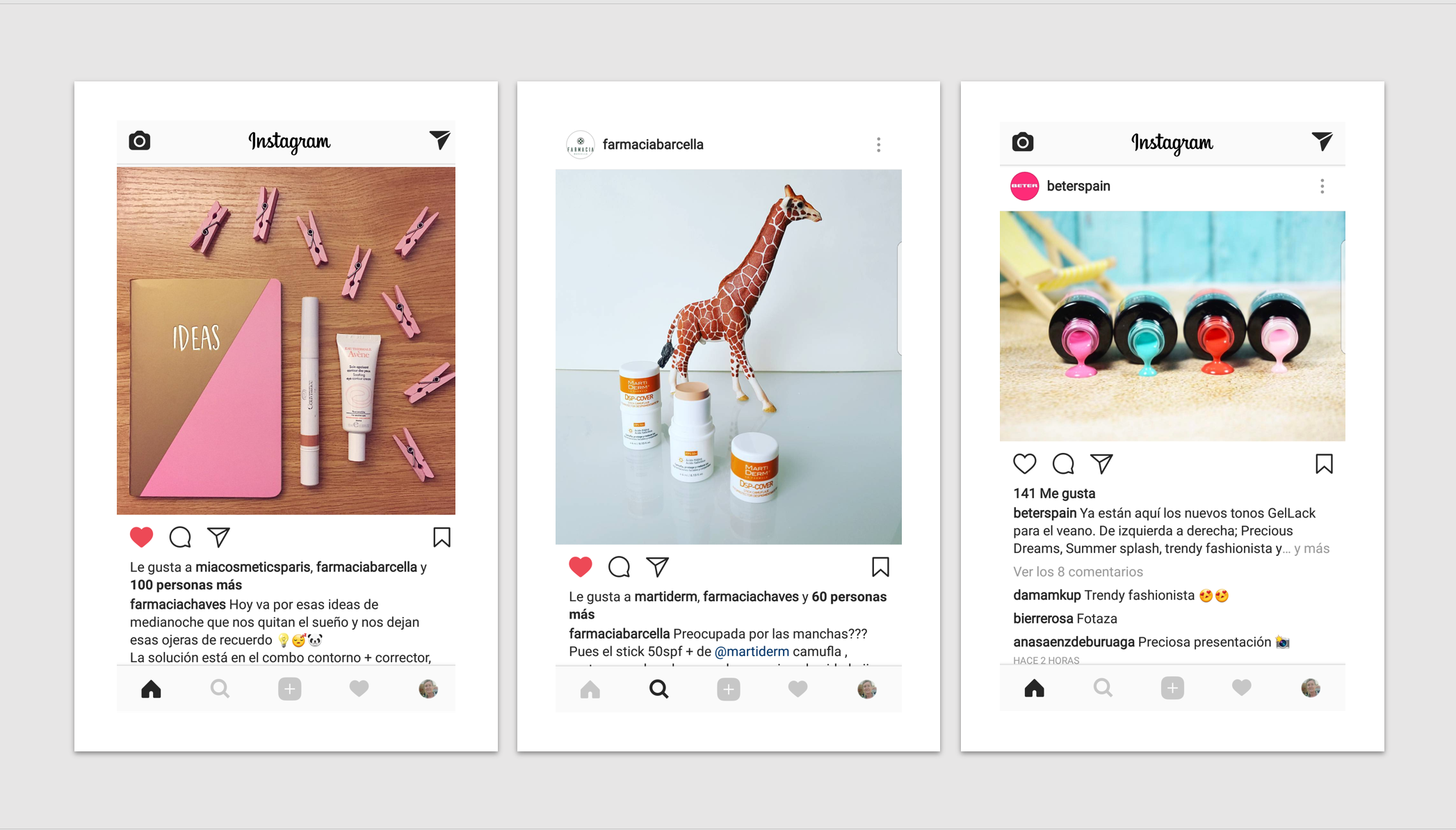 instagram en farmacia